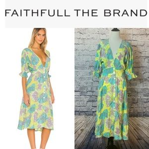 FAITHFULL MIDI DRESS **NWT**